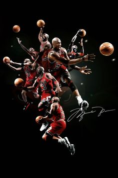 Michael Jordan 'Swarm' Collage (Red) [via Hooped Up]
