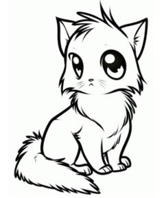how to draw anime cat picture