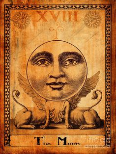 Shop for tarot art from the world's greatest living artists. All tarot artwork ships within 48 hours and includes a money-back guarantee. Choose your favorite tarot designs and purchase them as wall art, home decor, phone cases, tote bags, and more! Vintage Tarot Cards, The Moon Tarot Card, Online Tarot, Major Arcana, Thing 1, Tarot Decks, Occult, Fine Art America, Vintage World Maps