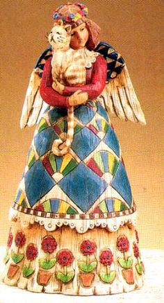 ANGEL WITH CAT by Jim Shore from his HEARTWOOD CREEK collection