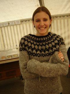 Icelandic grey wool lopi sweater