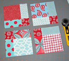 This is the disappearing nine patch. It is so easy and can be assembled in several ways. A fun and easy quilt to make! : This is the disappearing nine patch. It is so easy and can be assembled in several ways. A fun and easy quilt to make! Patchwork Quilting, Quilting Tips, Quilting Tutorials, Quilting Projects, Quilting Designs, Sewing Projects, Baby Quilt Tutorials, Scrappy Quilts, Hand Quilting