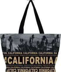 "California Tote Bag, Robin Ruth California Tote Bag, California Shopper Bag, California Beach Bag, California Casual Bag, California Travel Bag , California Souvenir Bag. Robin Ruth Official Merchandise. California Bag. Made of 100% canvas. Top Zipper | Convient Inner Pockets. Dimensions (approximate): 15"" W x 10"" H x 5"" D."