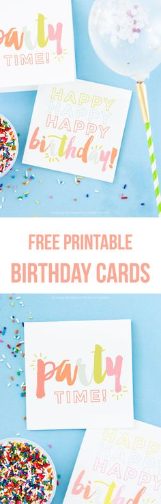 Free printable Birthday cards -so cute and perfect for when you need a card last minute!
