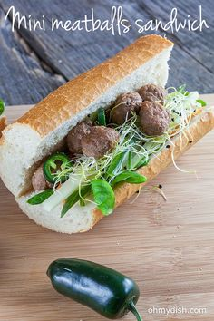 Exploding flavors from this mini meatballs sandwich packed with veggies and home-made sauce. Great for lunch, ready in 25 minutes.