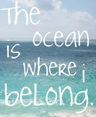The ocean is where I belong- EXACTLY! I want to live on the ocean so I can read and run there.