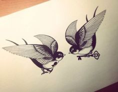 """Check out this @Behance project: """"Swallows Tattoo. my work,my sketch"""" https://www.behance.net/gallery/14249161/Swallows-Tattoo-my-workmy-sketch"""