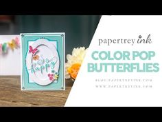 In this week's Saturday Showcase, Ashley shares more about the Color Pop Butterflies kit and all you can do with it. See how she used patterned paper, stenci. Butterfly Kit, Butterfly Stencil, Butterfly Cards, Card Making Tutorials, Making Ideas, Video Tutorials, Origami Bow, Slider Cards, Paper Crafts
