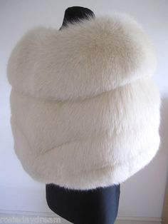 Available on ebay from 12th September 2013. Arctic white ivory fox fur wedding cape stole wrap