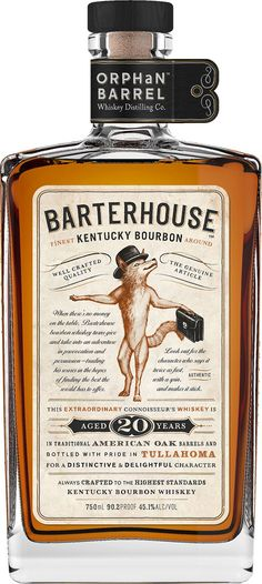 This. Is. Yum. Barterhouse Kentucky Bourbon #Whiskey. Aged for 20 years, this #bourbon was sourced from the fabled Stitzel-Weller Distillery. | @Caskers