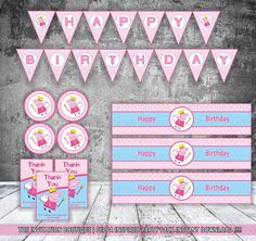 Peppa Pig Invitation por TheInvitationBoutiqu en Etsy