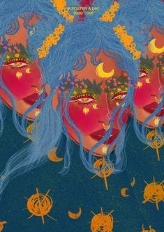 2020 One Poster A Day by Tom Mimo – Carpe Diem Willkommen Indie Kunst, Indie Art, Psychedelic Art, Art Sketches, Art Drawings, Kpop Anime, 60s Art, Estilo Indie, Aesthetic Indie