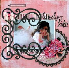 scrapbook page for Lila's tutu shoot!