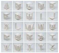 Letters in 4D. Lo Siento Studio, Barcelona.