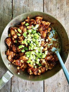 Kylling med cashewnøtter Kung Pao Chicken, Dinner, Ethnic Recipes, Food, Red Peppers, Dining, Food Dinners, Essen, Meals