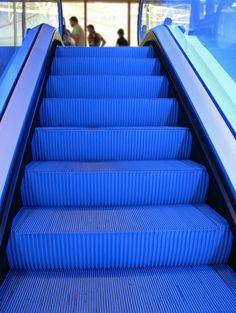 heycrocodile:    Escalator in bloo by Flickr