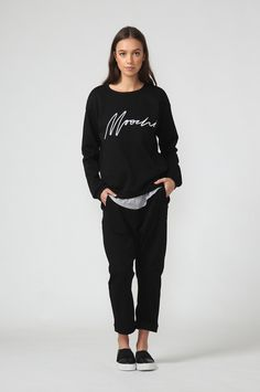ultimate sweat / black by Moochi. Everyday luxury, from off-duty essentials to coveted designer pieces. Buy Now! Aw 2017, Off Duty, Buy Now, Normcore, Stuff To Buy, Black, Style, Fashion, Swag