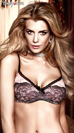 Lucky Lace Two Tone Bra, $4.00 #besexy #yandydotcom #cyberdeal