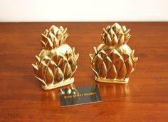 Pineapple Book Ends..the Pineapple is a symbol of hospitality.