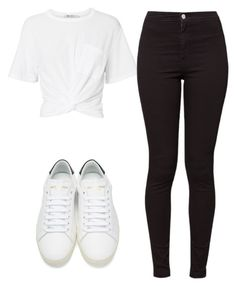 """""""Untitled #929"""" by ana-miguez ❤ liked on Polyvore featuring T By Alexander Wang, American Apparel and Yves Saint Laurent"""