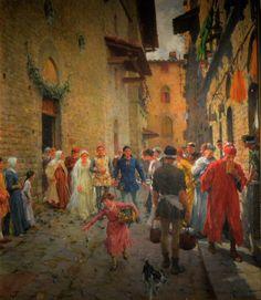 """Raffaello Sorbi (Firenze 1844 - 1931), """" Le nozze di Beatrice , Chiesa di Santa Margherita de' Cerchi, Firenze"""", 12928.. http://offthecoastofutopia.blogspot.it/…/little-known-treas… ( link diretto ) Autore  Raffaello Sorbi (1844-1931) Rimanda al template sinottico del creatore Wikidata: Q3929275 altre versioni  https://www.flickr.com/photos/35599481@N02/6788446199/"""