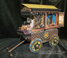 G45 ambassador Laura Denison's gypsy wagon.  This is SO gorgeous.