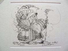 James Christensen - Royal Processional Remarque Etching (http://www.hiddenridgegallery.com/store/james-christensen/royal-processional-remarque.html) #art #jameschristensen
