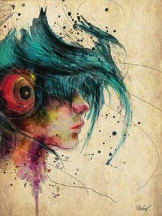 Harmony With Self ♫♪♫  Water Color - Digital Art Work By Artist {Rahaf Dkalbab}