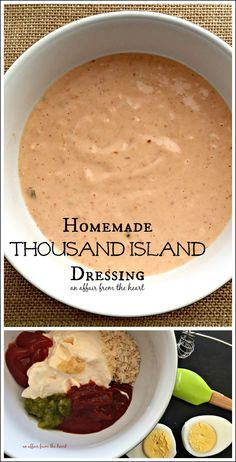 Homemade Thousand Island Dressing – An Affair from the Heart Selbstgemachtes Tausend-Insel-Dressing – Eine Herzensangelegenheit Thousand Islands, Homemade Thousand Island Dressing, 1000 Island Dressing Recipe, Sauce Recipes, Cooking Recipes, Fast Recipes, Salad Dressing Recipes, Catalina Dressing Recipes, Health Foods
