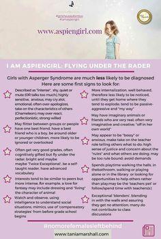 Girls w/Aspergers Flying Under the Radar