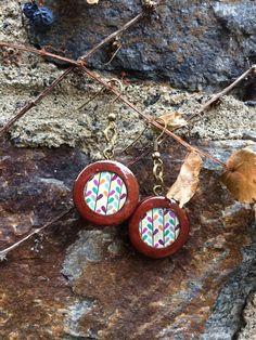 Wooden earrings by ciutecreations on Etsy