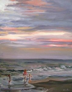 Original Impressionistic Oil Painting of Ocean by fromAngelasEasel, $420.00