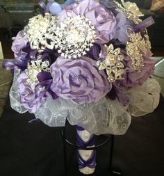 Purple Passion Bridal Brooch Bouquet by VintageVelvetBox on Etsy, $200.00.      SUMMER SALE through Sept.  20% off all items over $10.00