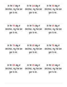 I love this idea! 12 days of Christmas (although I would not do ...