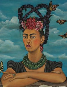 Frida Kahlo - Me and my parrots, 1941 | Frida Kahlo | Art ...