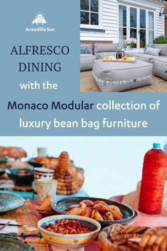 Alfresco dining with the Monaco Modular collection of luxury bean bag furniture. Seeking a stylish yet flexible seating solution for alfresco lunches, dinners and parties? Never quite sure how many people are going to rock up? One Pot Dishes, Serving Dishes, Moroccan Lamb Tagine, Bean Bag Furniture, Outdoor Bean Bag, Al Fresco Dining, Spice Mixes, What To Cook, 4 Ingredients