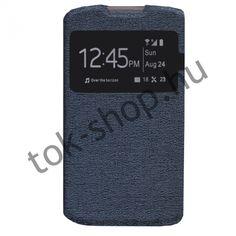 tok-shop.hu | Oldalra nyíló tokok :: LG Joy H220, Oldalra nyíló tok, TPU Flexi, hívás mutatóval, kék