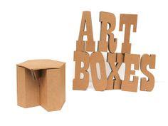 Taburetes de cartón. Fabricados bajo pedido, posibilidad de personalización. www.artboxes.es