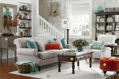 Love the colors!  I need to add an orangey red into my space! Bassett Furniture » Tools