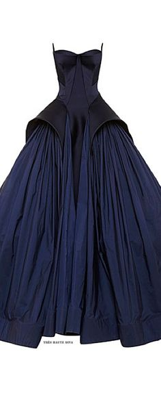 Zac Posen Royal Blue Tafetta Gown Resort 2015. Rent #ZacPosen collection on drexcode! - vogue.com