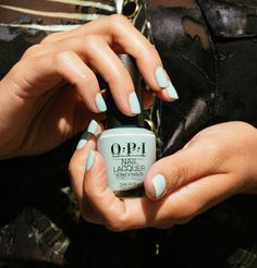 All you need is color for healing that reeling feeling. May we suggest this refreshing icy blue hue? Shade: #GelatoOnMyMind #ColorIsTheAnswer #HealingRainbow #OPIObsessed #BlueNails #SummerNails #NailInspo #NailsOfTheDay #OPINailLacquer Blue Nail Polish, Blue Nails, Opi Nails, Manicure, Interview Nails, Opi Red, Chocolate Moose, Red Apple, Nail Inspo