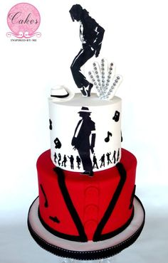 Michael Jackson Thriller - Cake by Aneesa Michael Jackson Party, Michael Jackson Smile, Michael Jackson Thriller, Magician Cake, Michael Jackson Merchandise, Music Cakes, 10th Birthday Parties, Birthday Cakes, Golden Birthday