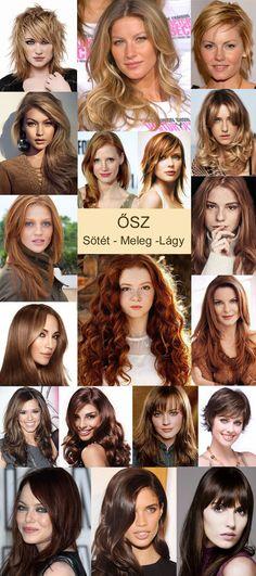 hajszínek az ősz típushoz Warm Autumn, Kate Beckinsale, Christina Hendricks, Four Seasons, My Style, Makeup, Needlework, Color, Palette