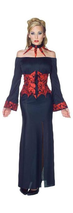 Mesdames minuit Esprit Fantôme Ghoul Halloween Fancy Dress Costume OUTFIT WIG