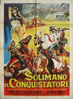 Original Italian poster of SULEIMAN THE CONQUEROR (1961)