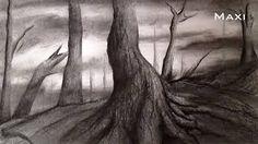 Resultado de imagen para dibujos a lapiz de paisajes de noche