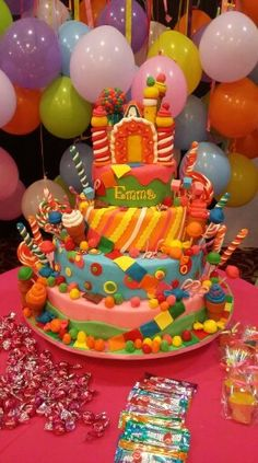 Candyland cake Emma 1st Birthday