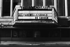 All Farewells Should Be Sudden    copyright © Peter Welch, all rights reserved