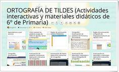 13 Actividades interactivas y materiales didáticos sobre la ORTOGRAFÍA DE TILDES en 6º de Primaria Compound Words, Interactive Activities, Spanish Language, Teaching Resources, Kids