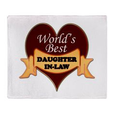 World's Best Daughter-In-Law Throw Blanket